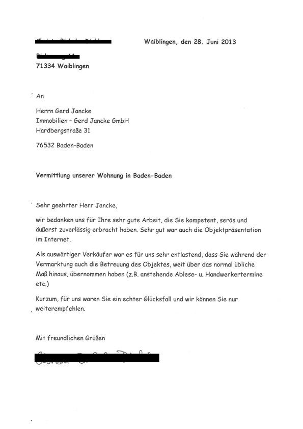 Kundenbewertungen & Referenzen für Immobilien Gerd Jancke GmbH
